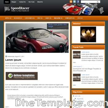 SpeedRacer blogger template. template blogspot magazine style