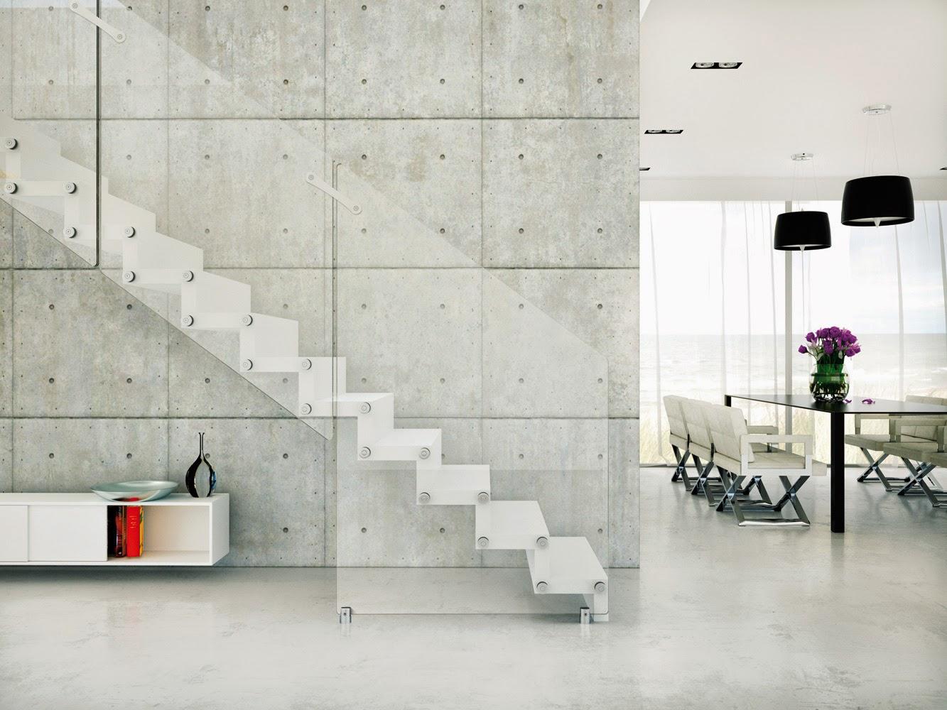 Colore pareti scala interna: le scale interne. soffitto travi ...