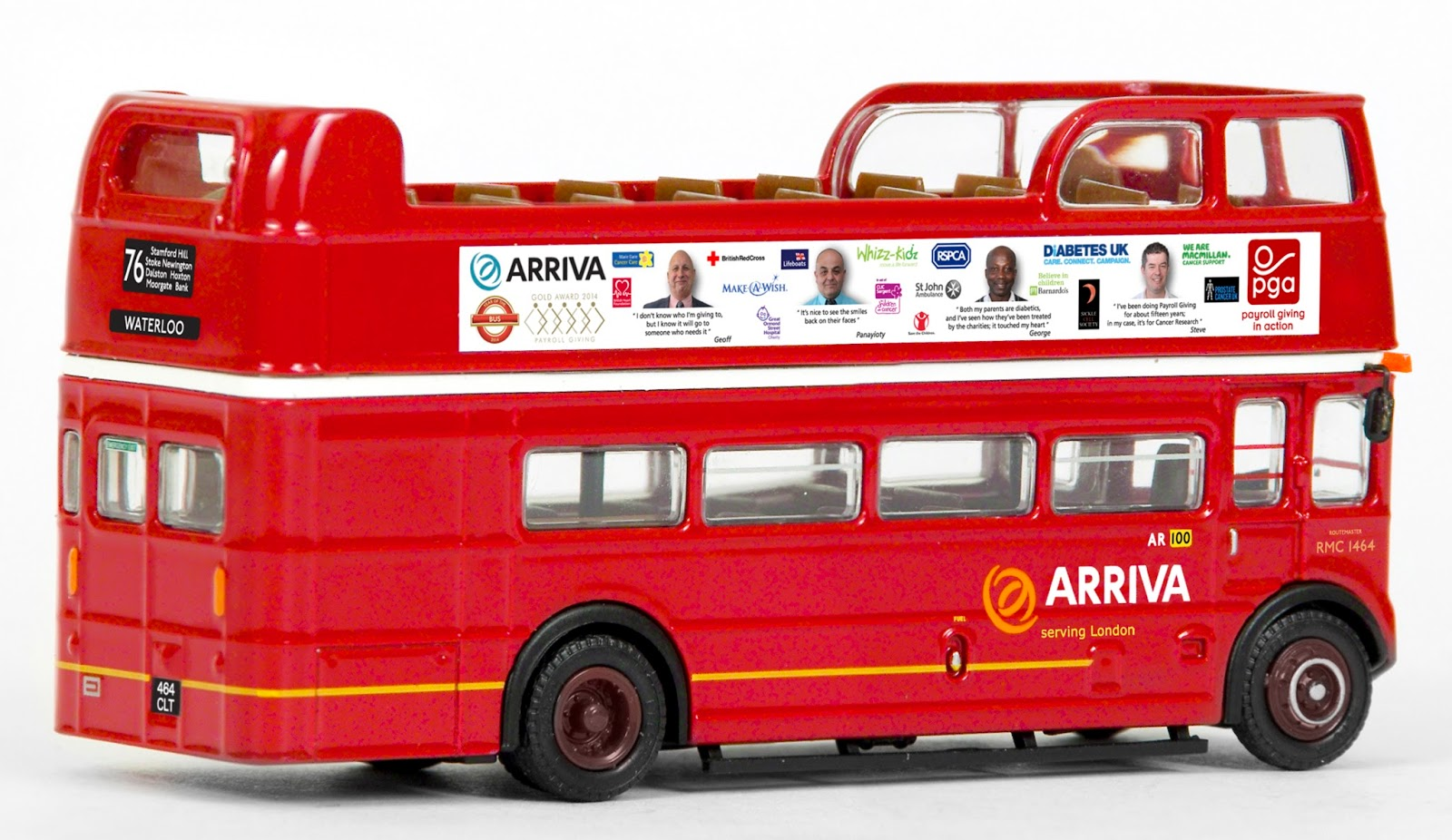 EXCLUSIVE FIRST EDITIONS 33103D ARRIVA LONDON LORD MAYORS SHOW 2014