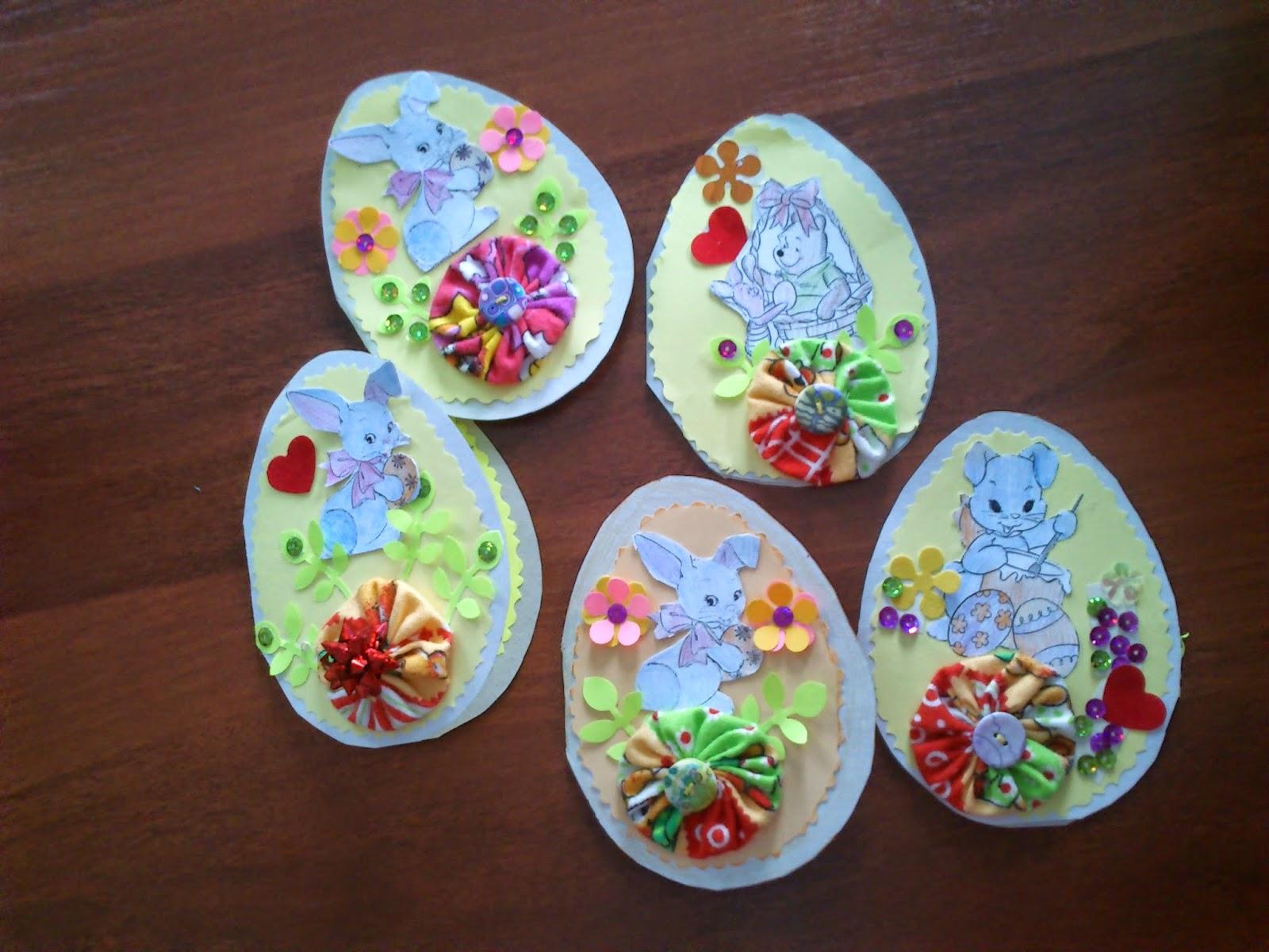 Пасхальные открытки в виде яйца 22