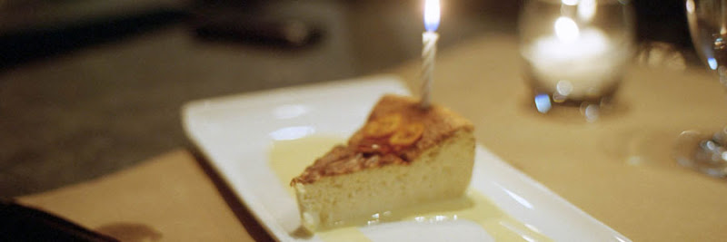 torte with candle