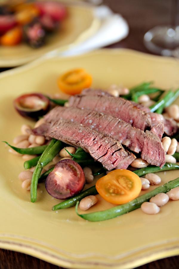 Steak With Warm Bean Salad