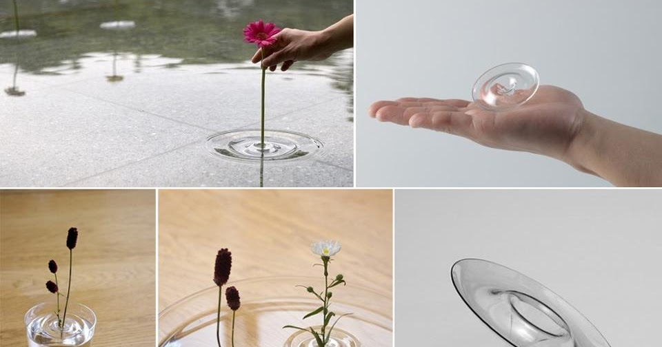 IDEAS And DECOR Ripple Floating Vase Designed By The Japanese Group Oodesign