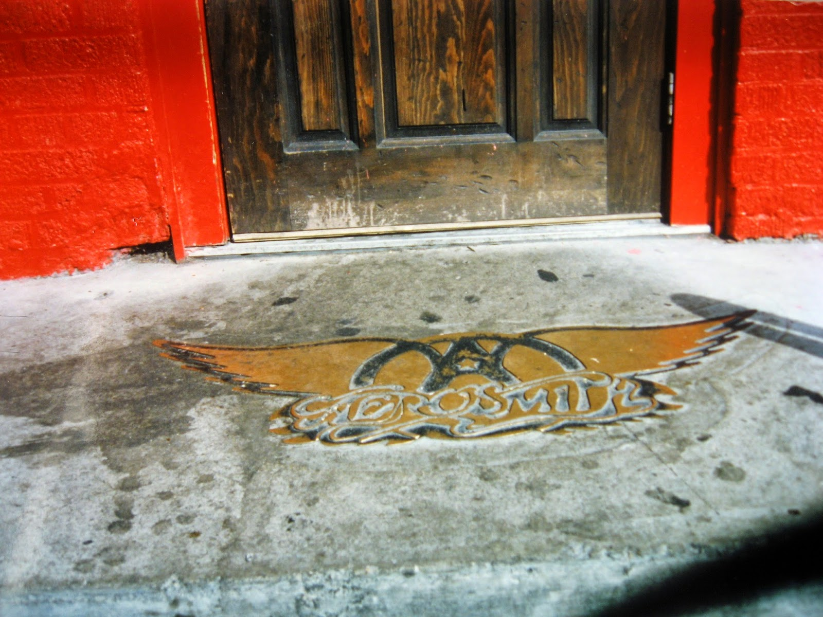 Aerosmith... Wings logo embedded into the front steps of the club... neat right!?