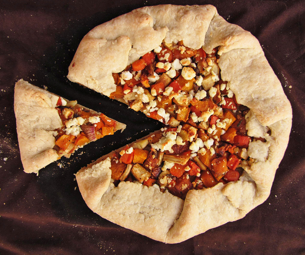 roasted vegetable galette