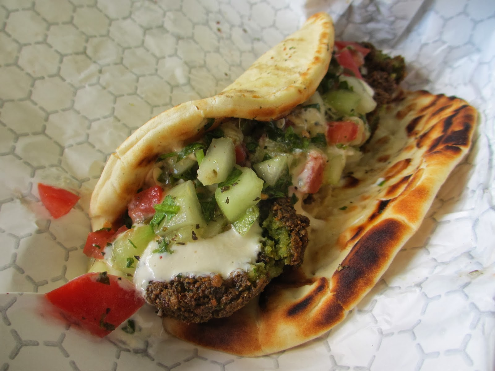 Watch Falafel with Cucumber-Tomato Salad video