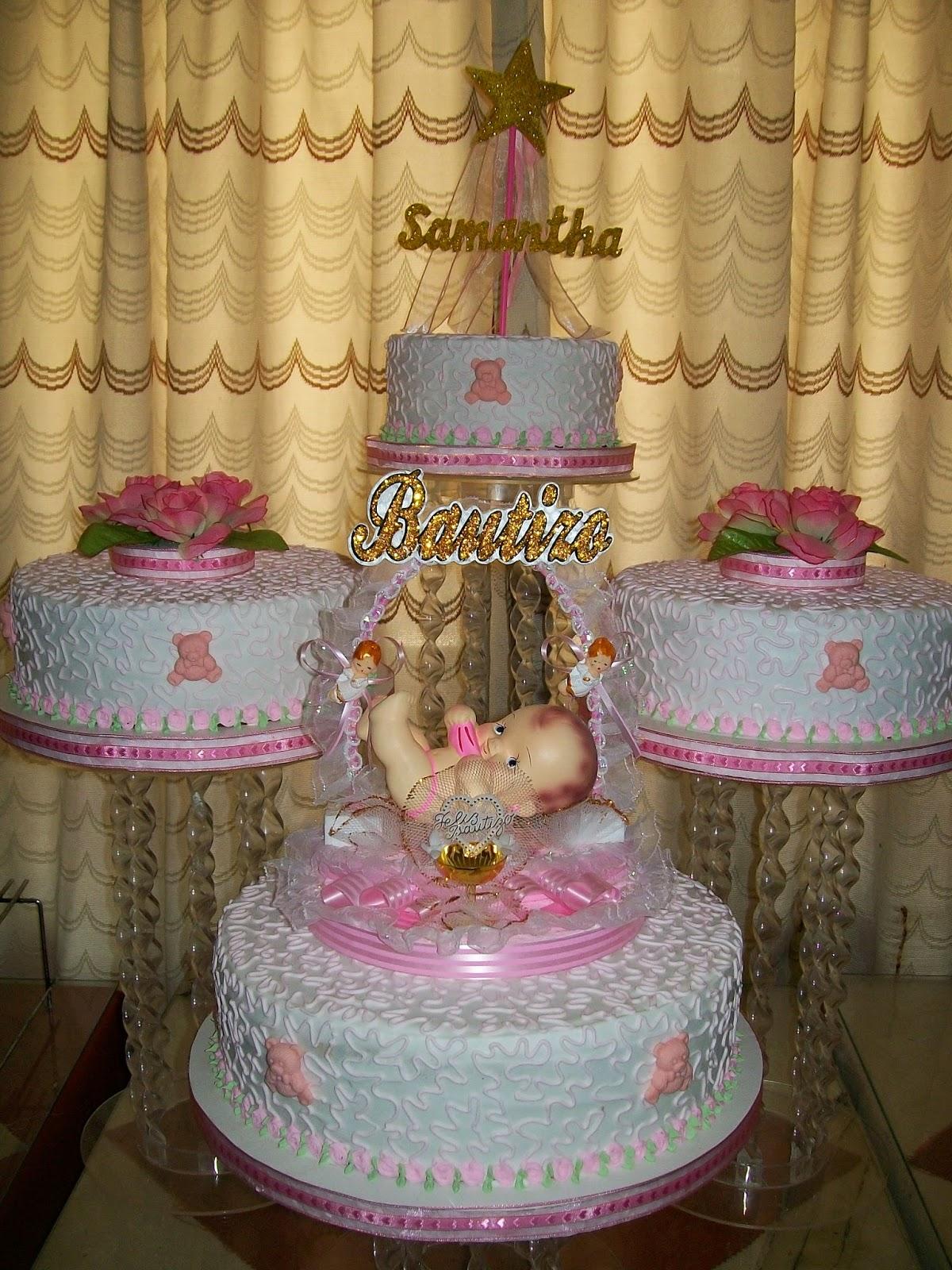 Tortas para bautizo comuni n y confirmaci n la casita for Decoracion de bautizo nina
