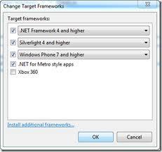 Change Target Frameworks