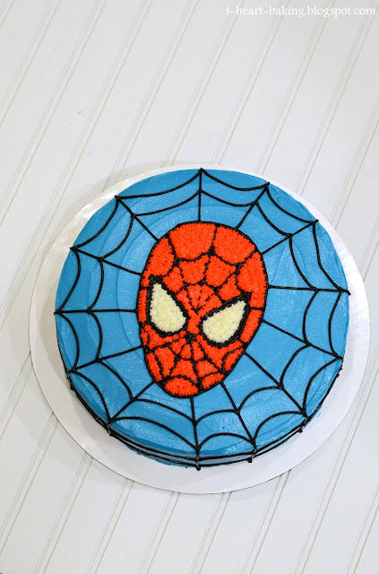 How To Make Spiderman Cake Icing