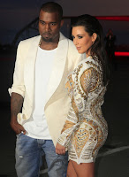 Kanye West Checks Out Kim Kardashian Cleavage