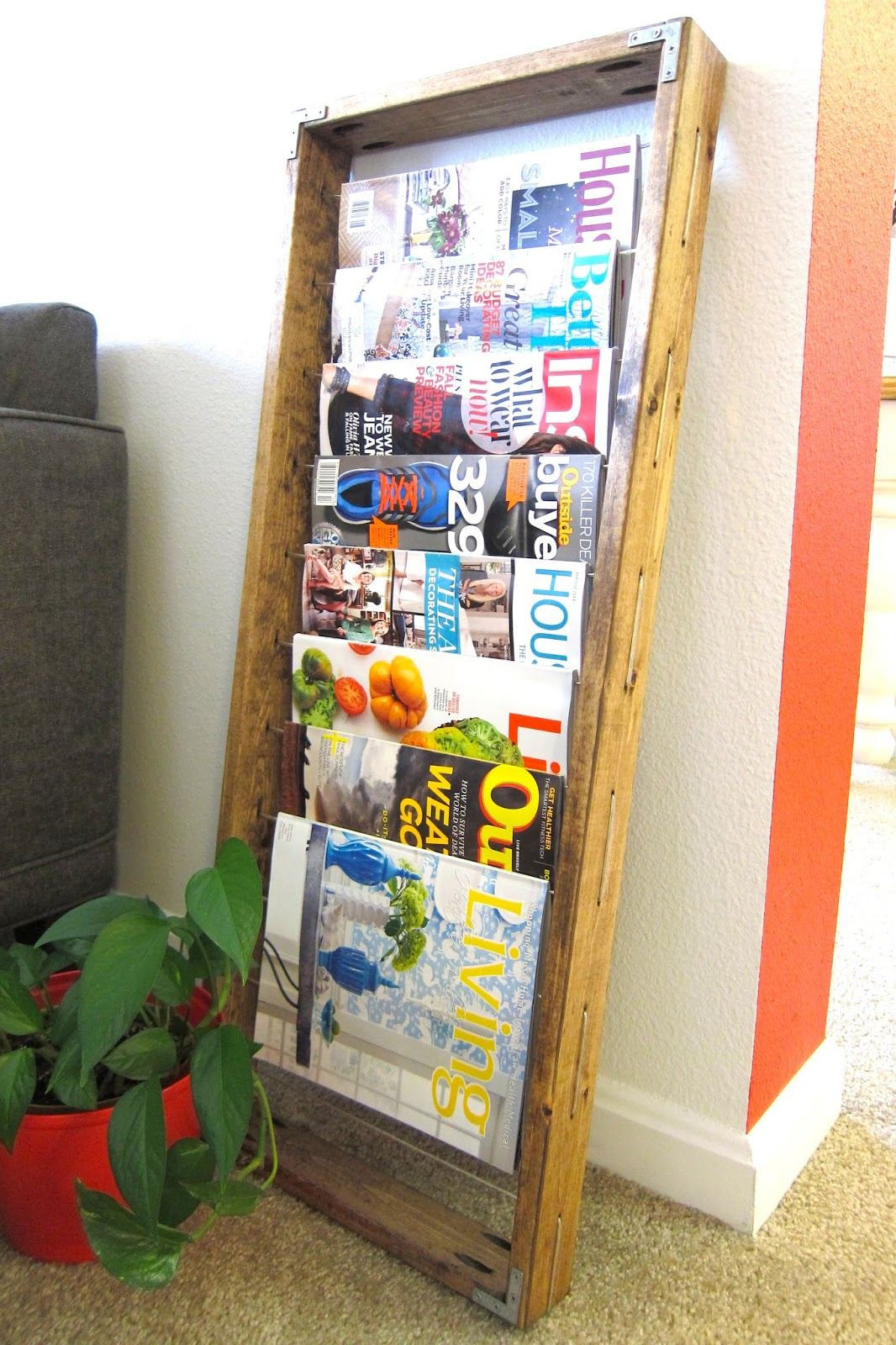 inspired whims diy magazine rack