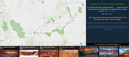 Maps Mania: The National Park Photo Map on