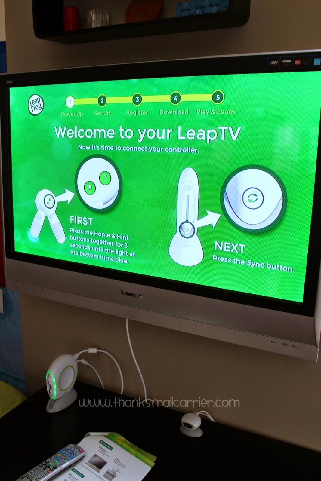 LeapTV set up
