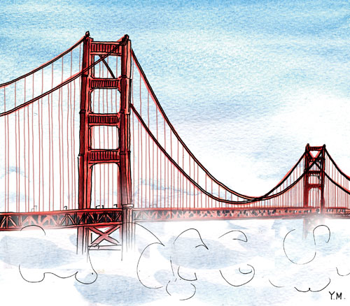 Golden Gate Bridge by Yukié Matsushita