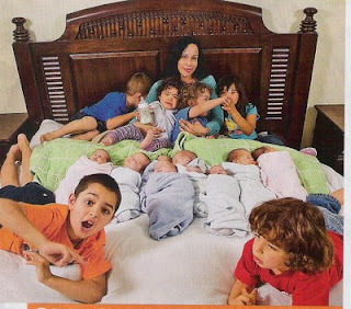 Nadia with her 14 kids