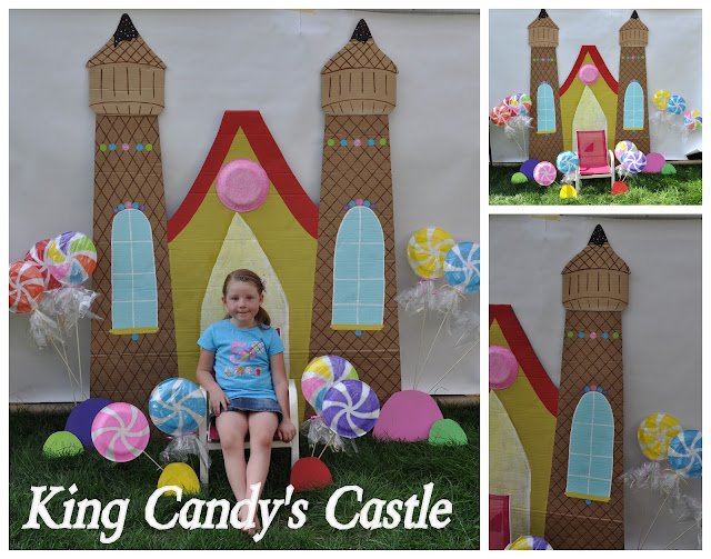 Candy Land {castle photo backdrop}