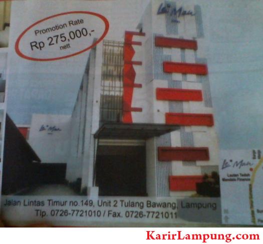 Lowongan Kerja Le'Man Hotel Unit 2 Tulang Bawang Lampung