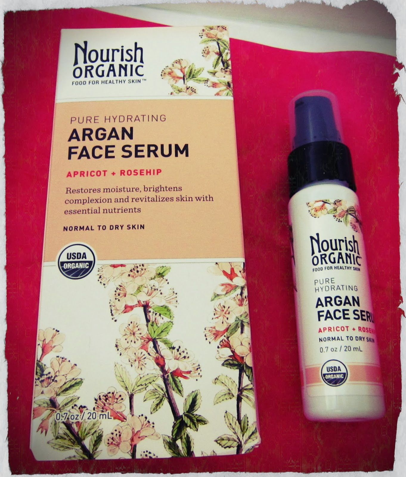 Nourish Organic Pure Hydrating Argan Face Serum,