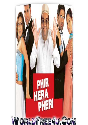 Poster Of Bollywood Movie Phir Hera Pheri (2000) 300MB Compressed Small Size Pc Movie Free Download worldfree4u.com