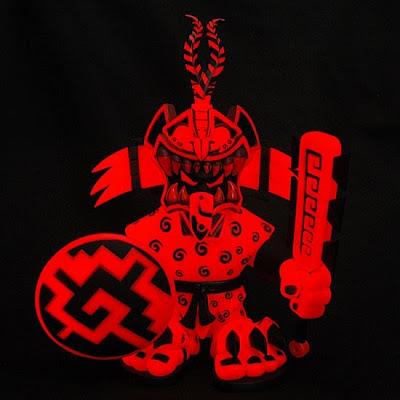 Toy Art Gallery Exclusive Fuego Glow in the Dark Red Jaguar Knight Vinyl Figure by Jesse Hernandez