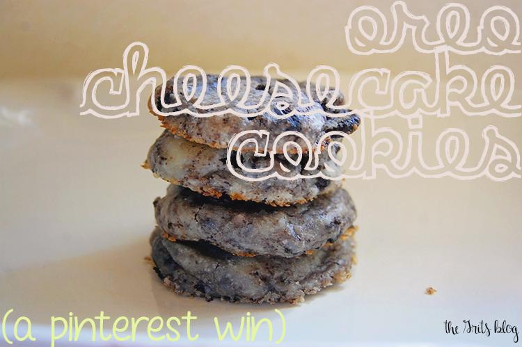 Oreo. Cheesecake. Cookies. A Pinterest Win! #oreos #oreocheesecake #oreocheesecakecookies