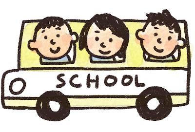 スクールバス・通学バスのイラスト