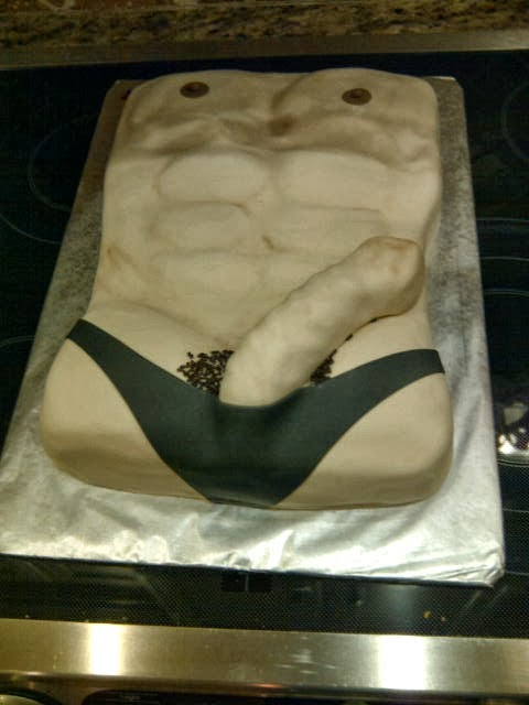 male stripper cake