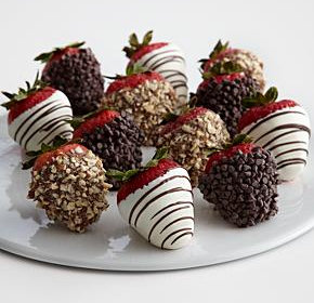 v-day strawberries