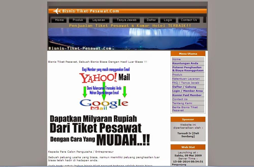 Bisnis-tiket-pesawat.com Bisnis Online Terpercaya dan Aman