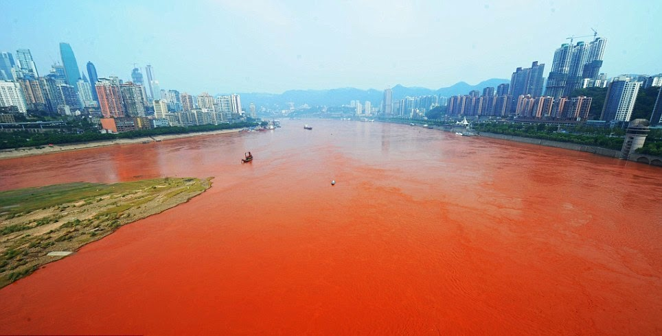Mysterious River Runs Blood-Red in China