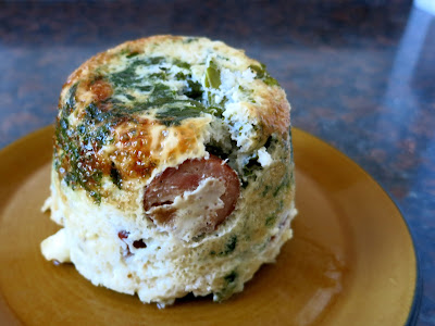 Sweet n' Salty Sausage, Kale and Egg Cake
