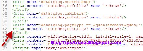 noindex Blogspot archive URL