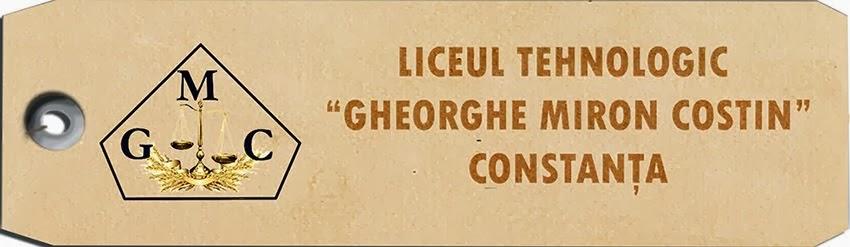 "Liceul Tehnologic ""Gheorghe Miron Costin"""