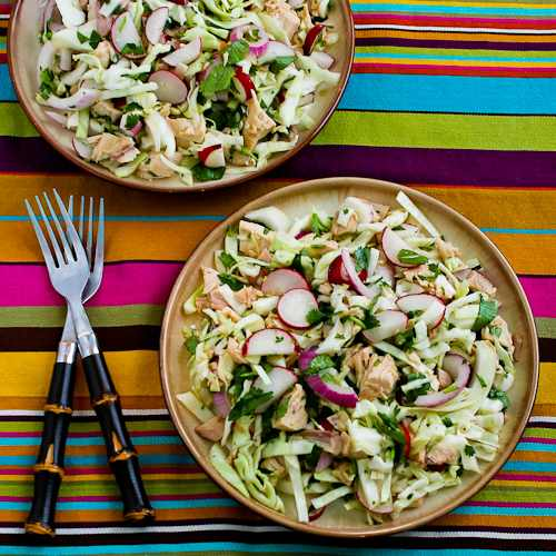 Vietnamese Cabbage Salad with Chicken and Cilantro