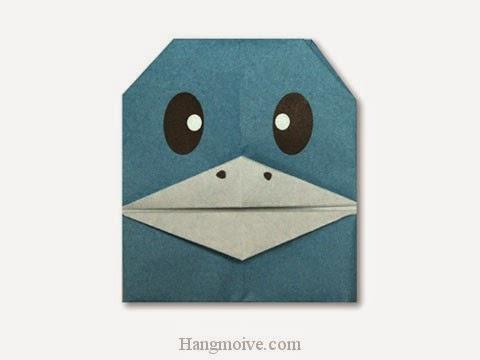 Cách gấp, xếp chim cánh cụt nói chuyện bằng giấy origami - Video hướng dẫn xếp hình - How to make a Chat Penguin