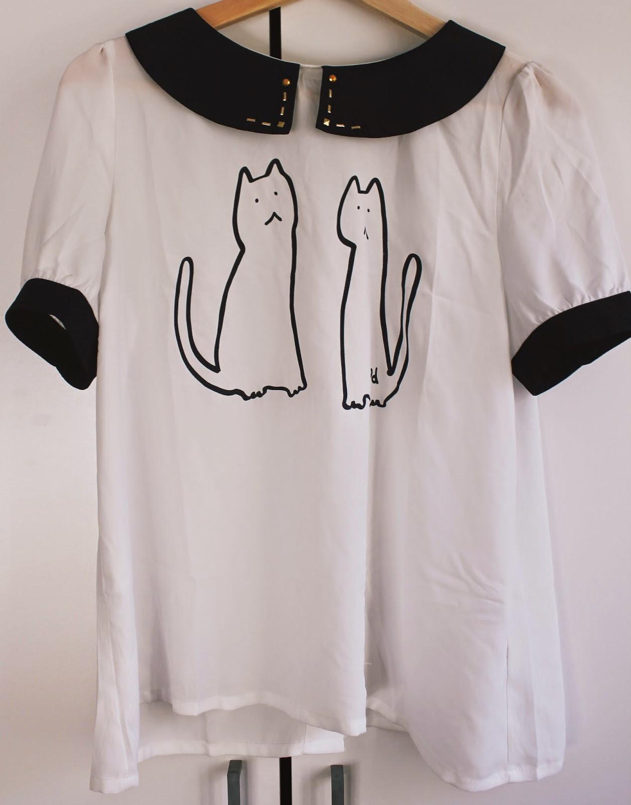 Cute Cat Blouse taobao