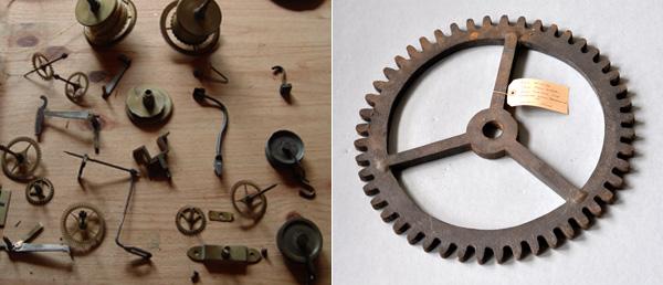 pequeños elementos mecánicos para reciclar en adornos