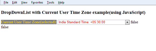 how to get current user time zone in asp.net using javascript