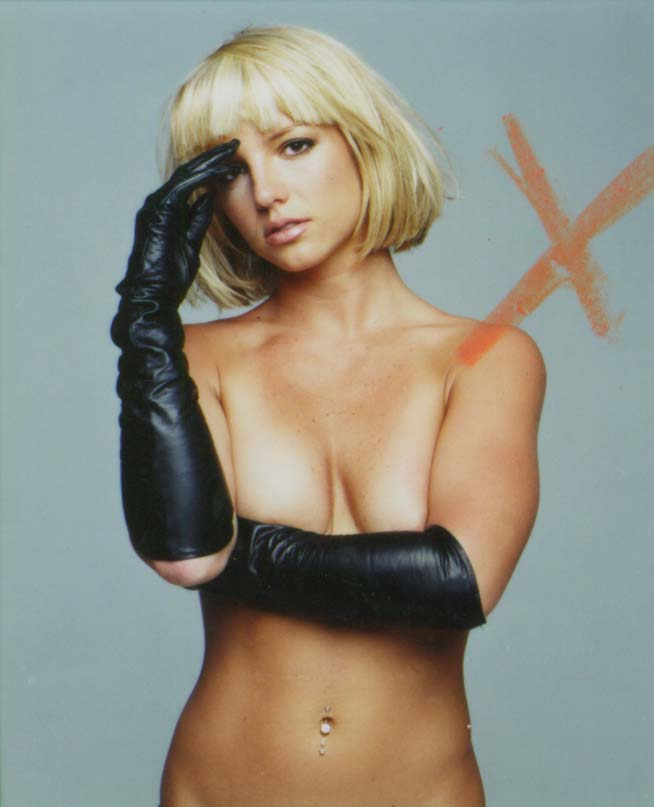 Britney Spears in Leather Gloves