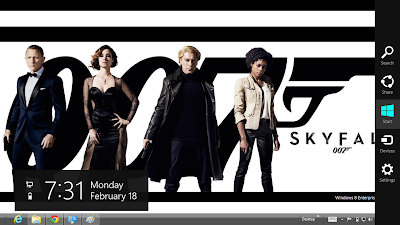 James Bond Sky Fall Windows 8 Theme, Sky Fall 007 Theme For Windows 8