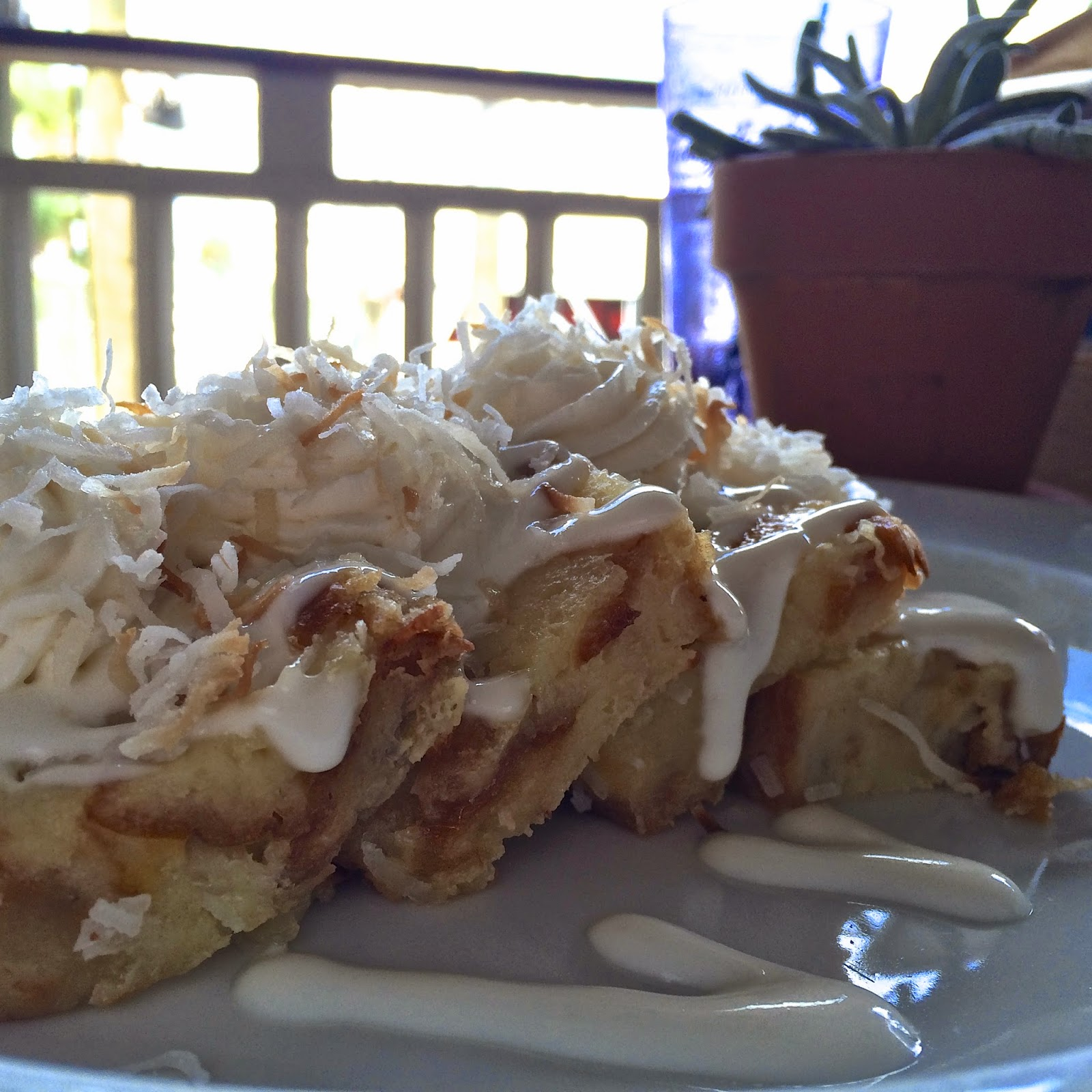 Toasted Coconut Bread Pudding