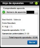 Apuestas Deportivas Fútbol – Liga BBVA Real Madrid-Valencia Rosberg Titanbet