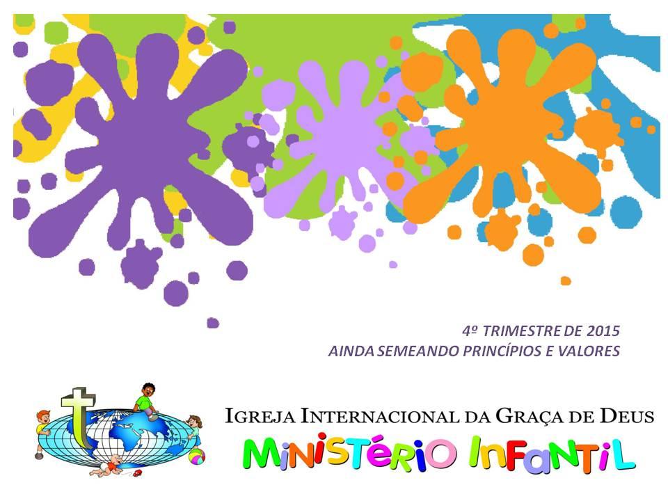 Minist rio infantil iigd cronograma do 4 trimestre de 2015 for Cronograma jardin infantil 2015