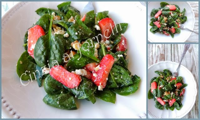 insalata fragole e spinaci