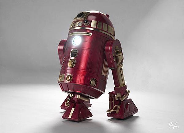 Star Wars R2-D2 in Iron Man Armor MK X