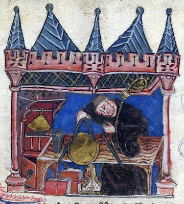 Richard, abade de Wallingford em trabalhos de trigonometria, History of the abbots of St Albans, século XIV, British Library