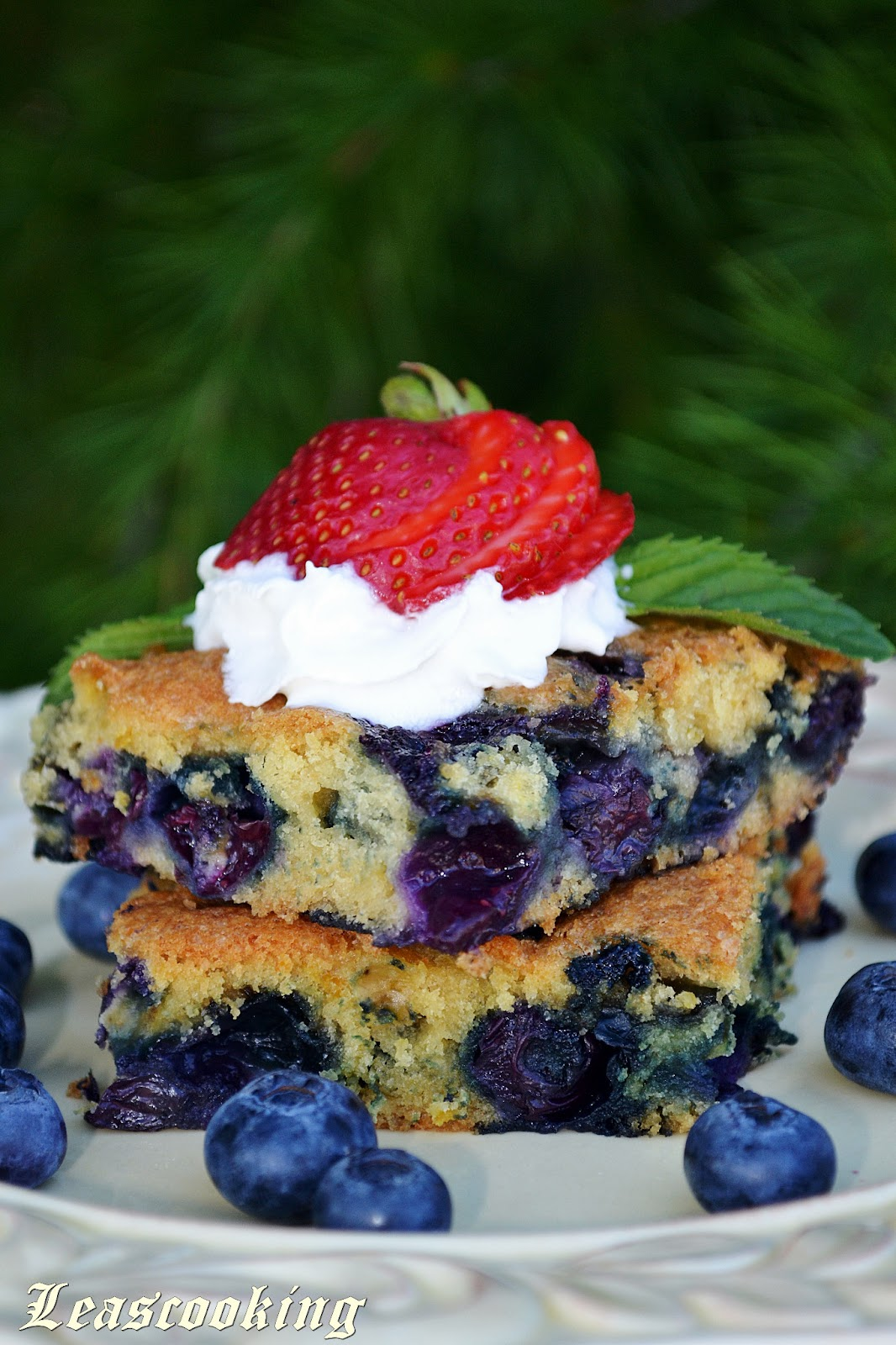 Lea S Cooking Blueberry Summer Cake