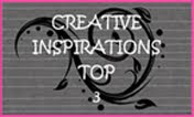 I was in the top 3 for creative inspirations