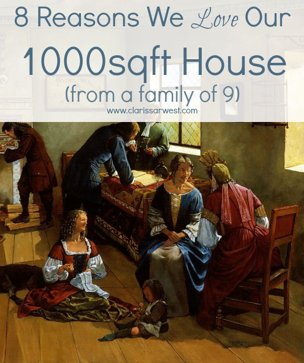 can a large family actually love living in a small house? yes!