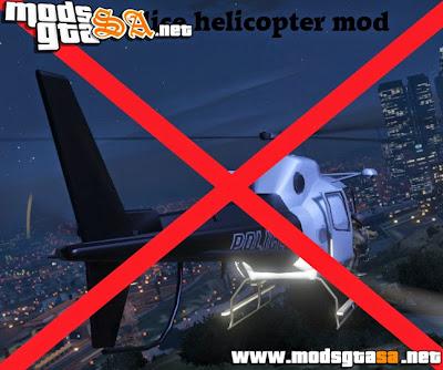 V - Mod Sem Helicóptero da Polícia para GTA V PC
